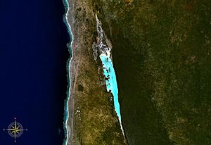 Lake Tsimanampetsotsa - from space