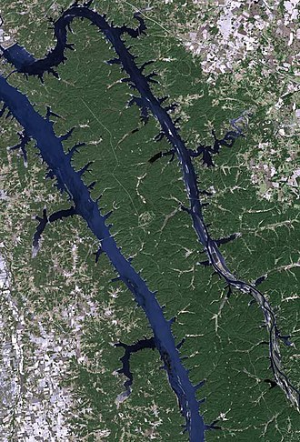 Land Between the Lakes National Recreation Area - Satellite photography