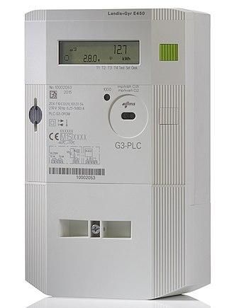 Landis+Gyr - Image: Landis+Gyr E450 G3 1 Phase Smart Electricity Meter