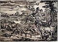Landscape with a Milkmaid, Giovanni Britto, c. 1525, woodcut - National Museum of Western Art, Tokyo - DSC08244.JPG