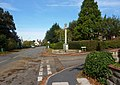 Lane junction and memorial - geograph.org.uk - 1526114.jpg