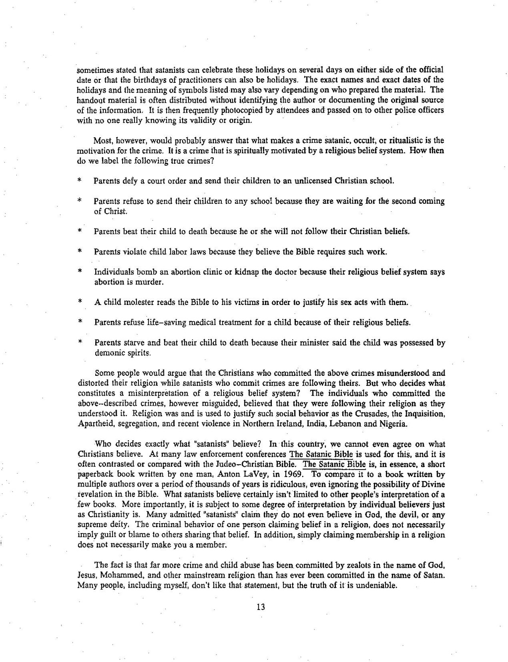 Page Lanning Report 1992 Investigator S Guide To Allegations Of
