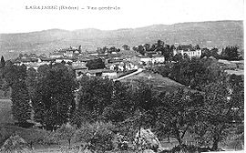 A general view of Larajasse, at the beginning of the 20th century