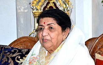 Indian playback singer Lata Mangeshkar has recorded thousands of songs Lata Mangeshkar at an event.jpg