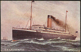 Image illustrative de l'article SS Laurentic (1909)