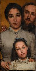 Dalou, sa femme et sa fille
