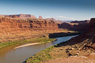 Course of the Colorado River - Colorado River at Moab, Utah