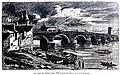 Le Lyon de nos pères, Vingtrinier et Drevet, 1901, page 012, dessin de Joannès Drevet, le pont du Rhône vers 1760.jpg
