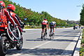 Lead riders Carter Jones and James Stemper reenter the city of Escondido during Stage 1 of the 2013 Tour of California..JPG