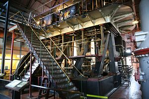 Erasmus Darwin Leavitt Jr. - Leavitt-Riedler Pumping Engine designed by Leavitt at Chestnut Hill high-service pumping station