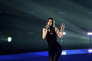 "Eurovision Song Contest 2010 - Lena performing the winning entry, ""Satellite,"" for Germany."