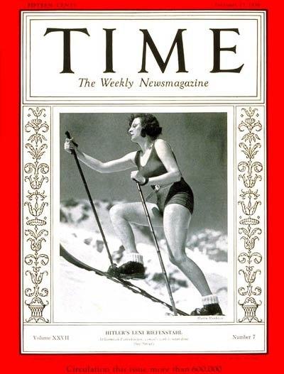 Leni Riefenstahl on Time magazine 1936