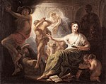 Lens, Cornelis - Hercules Protects Painting from Ignorance and Envy 1763.jpg