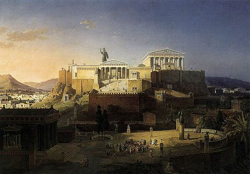 Leo von Klenze - The Acropolis at Athens - WGA12199