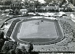 Lerkendal Stadion - The opening of the stadium on 10 August 1947