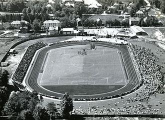 Lerkendal Stadion - The opening of the stadium on 10 August 1947