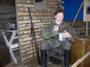 Latvian partisans - A mannequin of a Latvian national partisan in the Latvian War Museum, 2006.