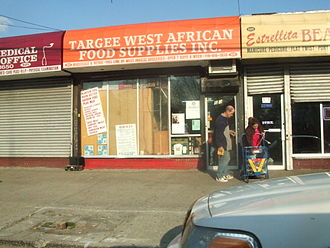"Clifton, Staten Island - A Liberian grocery in the midst of ""Little Liberia"", Targee Street."