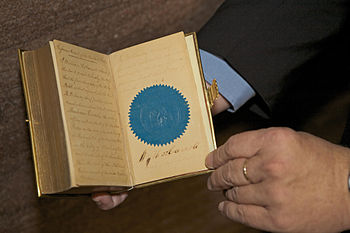 The bible used by Abraham Lincoln for his oath...