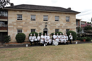 1st/15th Royal New South Wales Lancers - Image: Linden House And Band