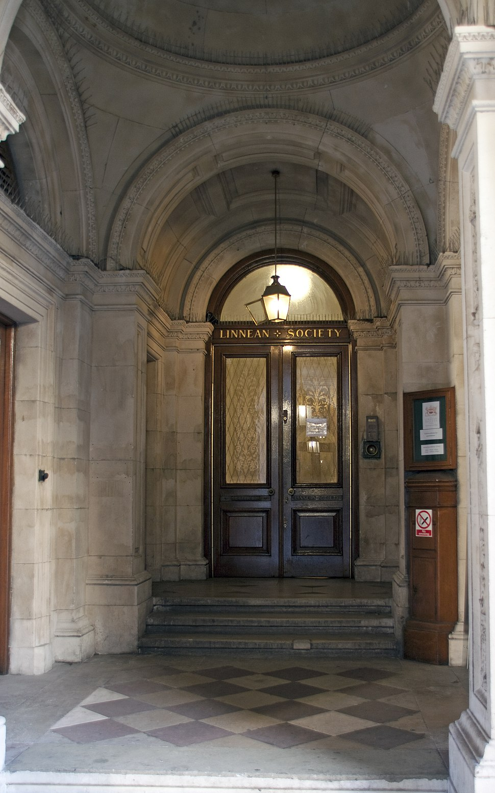 Entrance to the Linnean Society building, Piccadilly