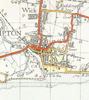 Littlehampton - A map of Littlehampton from 1946