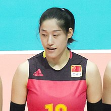 Liu Xiaotong in the China team for Volleyball (cropped).jpg