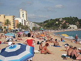 Lloret de Mar beach, Costa Brava, Spain..JPG
