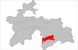 Posizione del distretto di Shughnon in Tagikistan