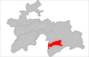 Shughnon District - Image: Location of Shughnon District in Tajikistan
