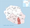 Locator map of Kanton Saint-Joseph 2018.png