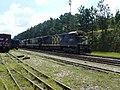 Locomotivas de comboio que passava sentido Guaianã pelo pátio da Estação Engenheiro Acrísio em Mairinque - Variante Boa Vista-Guaianã km 166 - panoramio.jpg