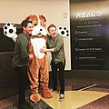 Logan Lerman and Dean Collins at the Sgt. Stubby Premiere.jpg