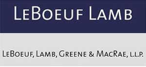LeBoeuf, Lamb, Greene & MacRae - Final logo before Dewey merger