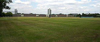 Barrack Field - Barrack Field today. In the background the Royal Artillery Barracks