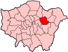 Location of the London Borough of Newham in Greater London