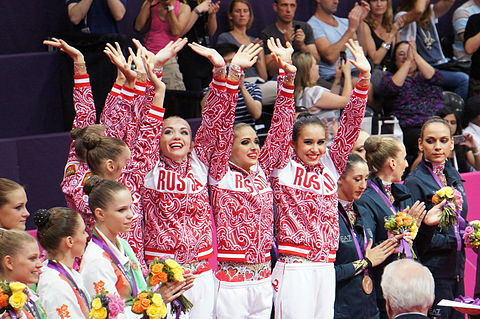 London 2012 Rhythmic Gymnastics - Winner Team Russia.jpg