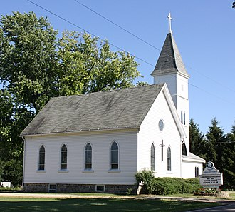 London, Wisconsin - Image: London Wisconsin Moravian Church