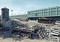 Longfellow Bridge construction and Charles station, June 2014.jpg
