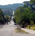 Looking up Dickson Street, Fayetteville, Arkansas.jpg