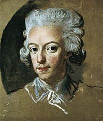 King Gustav III of Sweden. Sketch