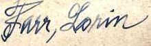 Signature of Lorin Farr