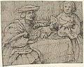 Lotto - Portret van een aan tafel zittende man en vrouw, 1524 - 1525.jpg