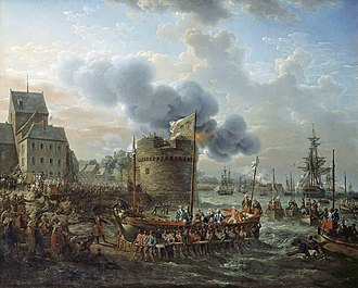Cherbourg Naval Base - Visit of Louis XVI to Cherbourg in June 1786, Louis-Philippe Crépin, 1817
