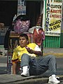 Lounging Around - Centro Street Scene - Mexico City - Mexico (6450803279).jpg