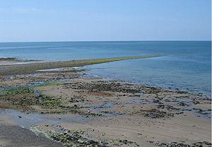 Sarn Gynfelyn - The sarn revealed at low tide