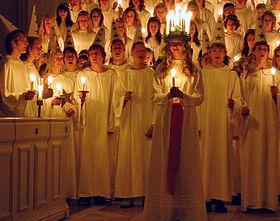 Procession de la Sainte Lucie en Suède, 2006