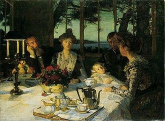 Lucien Simon - Image: Lucien Simon, 1901 Fin de repas à Kergaït