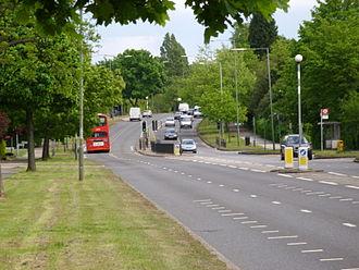 A1 in London - View west along Lyttleton Road