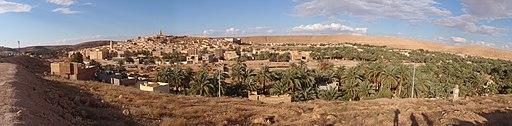 M'zab Vallery panoramic in Algeria